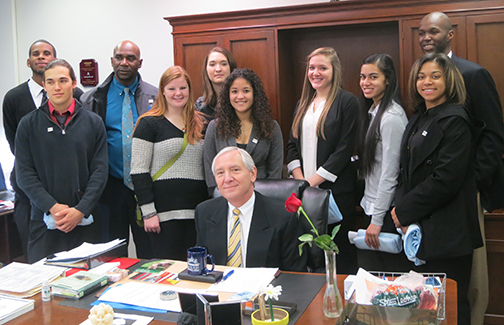 Danny Marshall and students